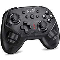 「2020先行版」Switch コントローラー DinoFire スイッチ コントローラー プロコン ジャイロセンサー HD振動 メーカー3年保 無線 ワイヤレス Bluetooth 接続 任天堂 Nintendo Switch 対応 ニンテンドー スイッチ プロ コントローラ 小型 黒