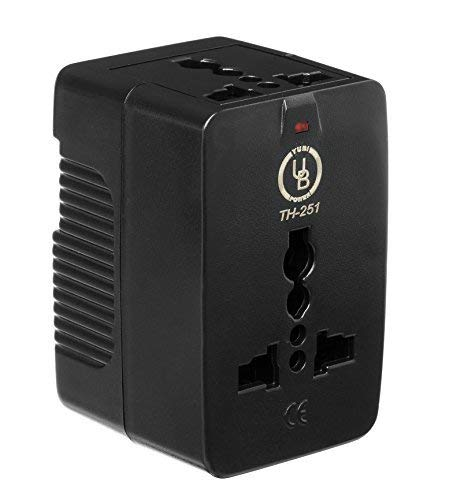 Yubi Power Universal Travel Adapter 2 Universal Sockets Covering More Than 150 Countries - US, UK, EU, AU - Black