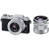 Panasonic DMC-GF7WK Compact System Camera (DSLM) with 12-32mm + 35-100mm Kit - International Version (No Warranty)