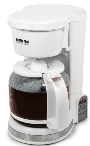 Better Chef IM-121W 12-Cup Digital Programmable Coffeemaker, White