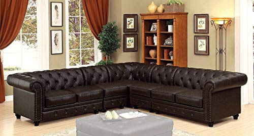 Furniture of America Stanford II Collection CM6270BR-SET-2CH 118