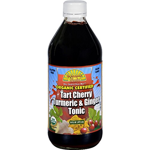 Dynamic Health Organic Tart Cherry Juice Tonic with Turmeric & Ginger | Certified Organic and Kosher | Key Compounds | 16 oz