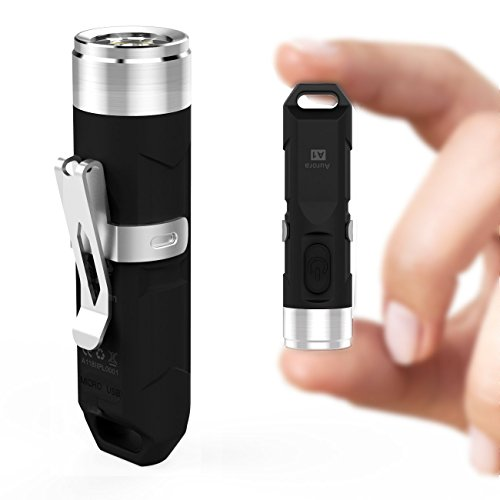 Led Flashlight Rechargeable 550 Lumens Mini Flashlight Led Waterproof Small Flashlight for Camping 4 Modes (Black)