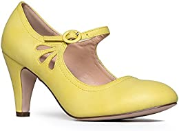 Amazon.com: Yellow - Pumps / Shoes: Clothing Shoes &amp Jewelry