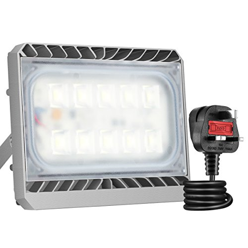Gosun Super Bright 50W LED Floodlight, CREE SMD5050 Chips, IP65 Waterproof,...