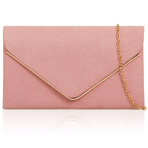 Leather New Evening Xardi Designer Women Faux London Bags Suede Prom Ladies Envelope Clutch Blush pvx5wxCq