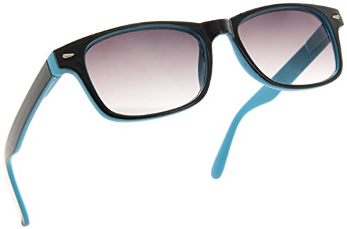 - Fiore Classic Trendy Full Reader Sunglasses - Not Bifocals [Blue, 2.25]