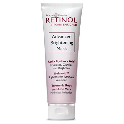 Retinol Advanced Brightening Mask - The Original Retinol 10-Minute Anti-Aging Treatment - Exfoliates, Clarifies & Smooths Texture For Younger Looking Skin & Restored Luminosity