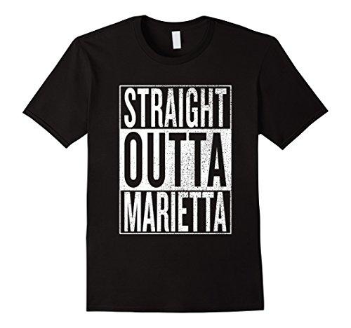 Straight Outta Marietta Great Travel & Gift Idea T-Shirt ()