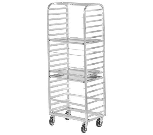 Home Décor Premium 10 Pan Side Load Aluminum Bun/Sheet Pan Rack - Assembled Storage Durable Strong Decorative