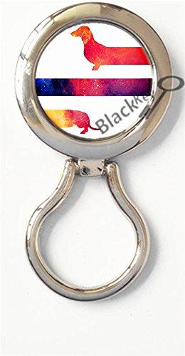 BlackKey Animal Dog Dachshund Puppy Wiener Dog Magnetic Metal Eyeglass Badge Holder, Eye Glass Holding Brooch -260