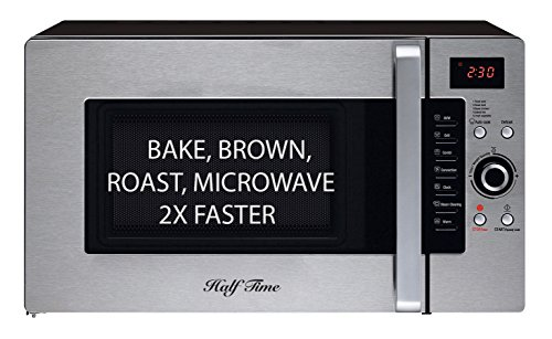 On Sale Now! Limited Time Only! Half Time Convection Microwave Oven, Bake, Brown, Roast in Half the Time, Countertop Stainless Steel/Black. 3 Year Manufacturer's Warranty Included. - Roast Countertop