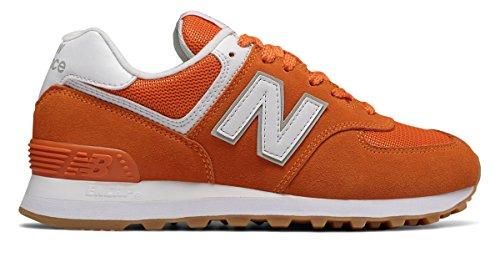 無実ありそうネックレス(ニューバランス) New Balance 靴?シューズ レディースライフスタイル 574 Orange オレンジ US 8 (25cm)