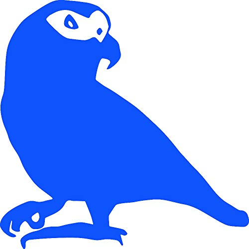 Animal African Grey Parrot WILDLFIE (Azure Blue) (Set of 2) Premium Waterproof Vinyl Decal Stickers for Laptop Phone Accessory Helmet Car Window Bumper Mug Tuber Cup Door Wall Decoration ()