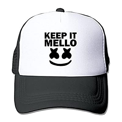 ZMvise Adult Marshmello Keep It Mello Baseball Hat Mesh Trucker Vintage Unisex Cap