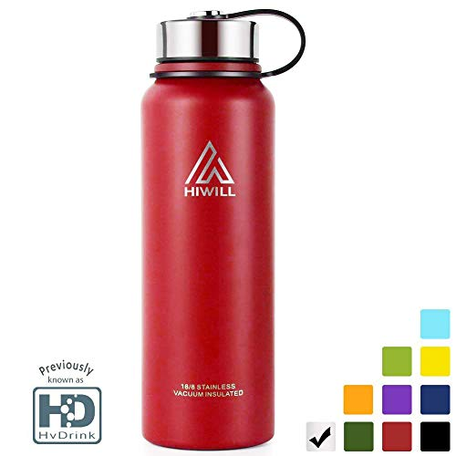 um Insulated Water Bottle, Cold for 24 Hours Hot for 12 Hours, 21 OZ - 50 OZ Double Wall Thermos Flask, Travel Sports Leak Proof Drinking Bottle with Metal Strainer, BPA Free ()