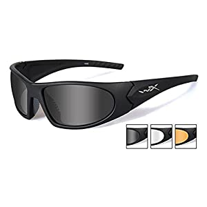 Wiley X Romer 3 Tactical Black Matte Sunglasses 3 Lens Pack Grey Clear Light Rust