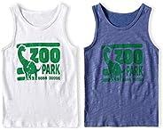 AMMENGBEI Boys Girls Slub Cotton Sleeveless Tank Top Summer Undershirts for Kids 3-14 Years,2 Pack