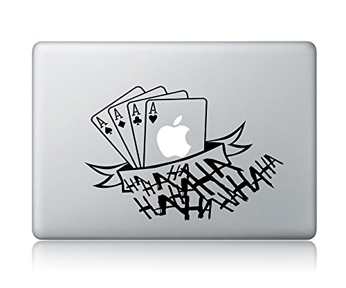 The Joker's Four Aces And HAHAHA Apple Macbook Laptop Vinyl Sticker Decal