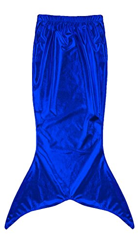 Male Mermaid Halloween Costumes - Marvoll Women's Shiny Metallic Mermaid Tails Costume Halloween Party Dress (Small, Blue)