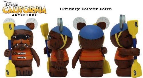 Disneyland Park Theme (Disneyland California Adventure Grizzly Bear River Run Grand Opening California Adventure 3 Vinylmation Figure - Brand New in Mint Condition!!)