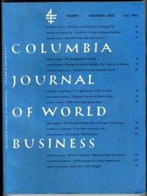Columbia Journal (Columbia University Journal of World Business Inaugural Issue 1965 New York)