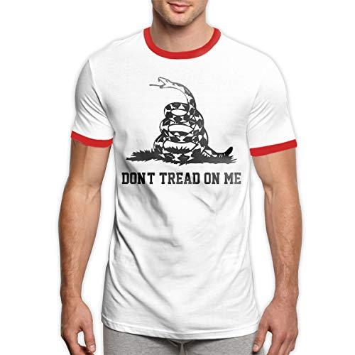 MiiyarHome Men's Ringer T-Shirt American Revolution, Men Short Sleeves Jersey Causal Tee Red M