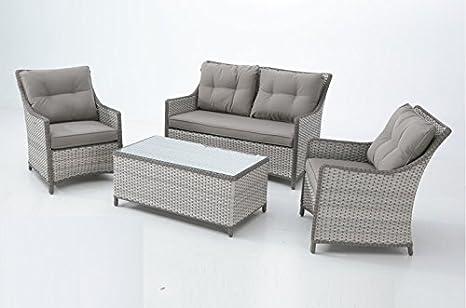 Set sofas terraza rattan nicosia: Amazon.es: Jardín