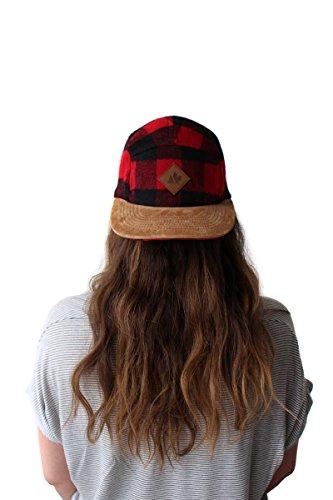 - Hipster Buffalo Plaid Wool Camper Five Panel Hat Strapback Baseball Cap