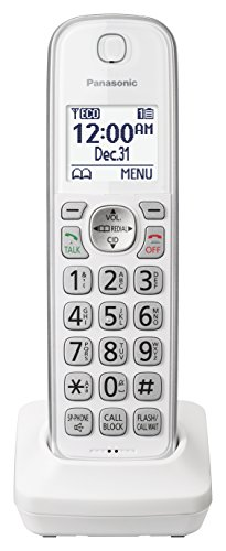 PANASONIC Additional Cordless Phone Handset for use with KX-TGD3x Series Cordless Phone Systems - KX-TGDA50W1 - Handset Cordless Digital Accessory