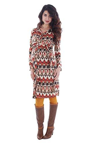 ikat shirt dress - 4