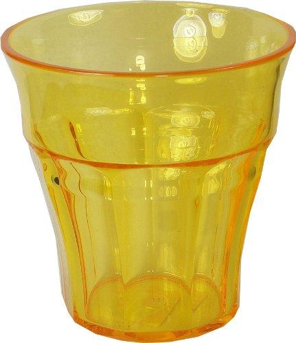Le Cadeaux Bistro Break Resistant Drinkware Tumbler or Water Glass, Yellow