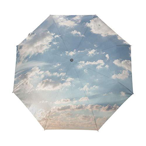 2019 Creative Luxury Fashion Three Folding Men Umbrella Sky Kazbrella Windproof Sun Rain Women Umbrella Accept Customized Design,Other,China ()