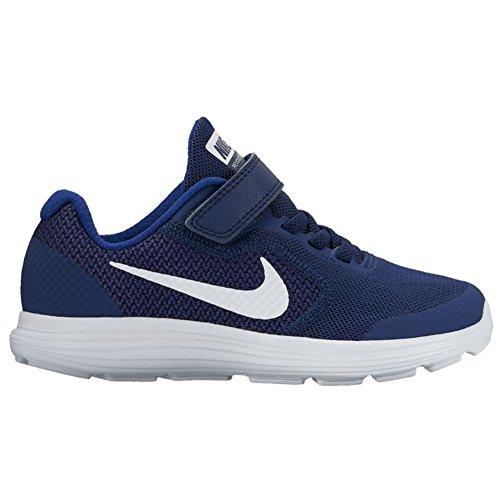 Nike Revolution 3 (Psv), Zapatillas de Deporte para Niños Azul marino-Blanco-Negro