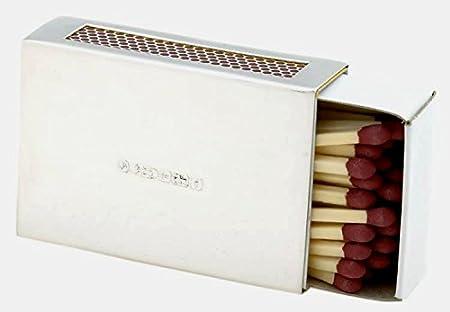 Plata sólida caja para cerillas (apto para grabado): Amazon.es: Hogar