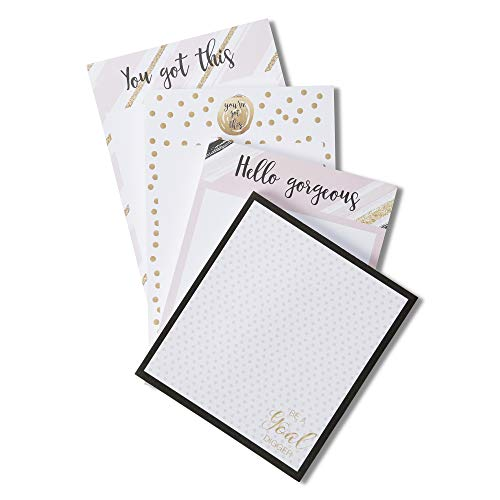 (Tri-Coastal Design Memo Pad Gift Set Quad Stack Notebook in Assorted Prints - Set of 4 - Less Worry, More Faith (You Got This))