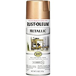 Rust-Oleum 286564 Stops Rust Metallic Spray Paint, 11 oz, Rose Gold