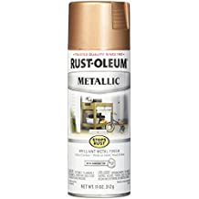 Rust-Oleum 286564 Stops Rust Metallic Spray Paint 11 Oz, Rose Gold