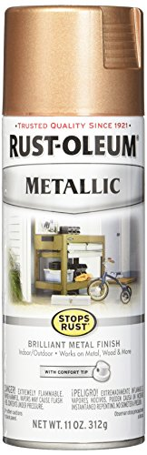 Rust-Oleum 286564 Stops Rust Metallic Spray Paint, 11 oz, Rose Gold (Spray Brass Metallic Paint)