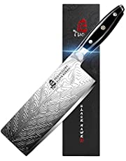 TUO Vegetable Meat Cleaver Knife - 7 inch Chinese Chef's Knife High Carbon Stainless Steel - Kitchen Knife with G10 Full Tang Handle - Black Hawk-S Japanese Cleaver Knives Including Gift Box