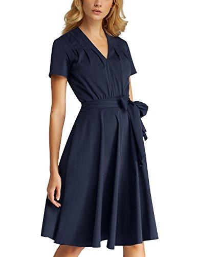 APART Fashion Damen Kleid Blau (Navy) Li6JzmH