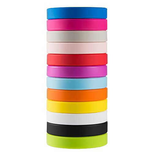 - Green House-Wholesale 12pcs/Set Mixed Colors Adult's Blank Silicone Wristbands,Rubber Bracelets - Party Favors