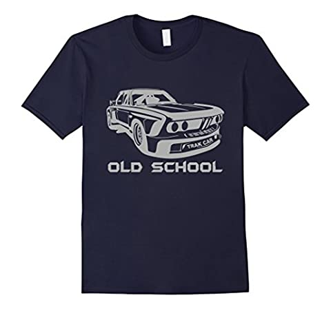 Men's Old School Auto Racing Car Gear, Motorsports T-Shirt Large Navy - Old School Auto