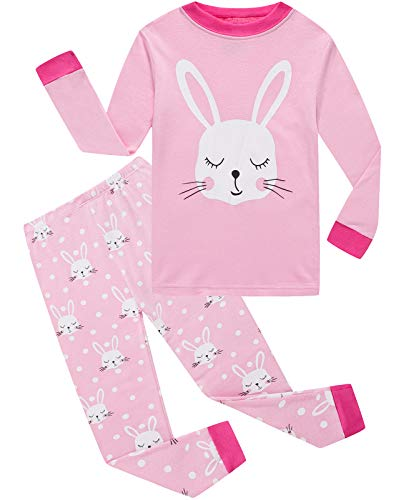 Little Pajamas Girls Pjs Easter Rabbit Toddler Sleepwear Kids Easter Gift Clothes Sets Size 5 -