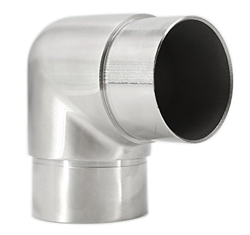 Stainless Steel 90-Degree Flush Joiner Elbow Connector for 2