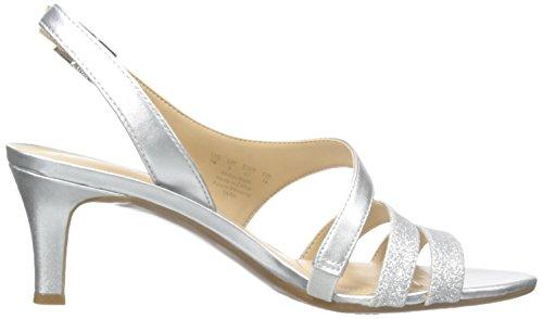 Naturalizer Taimi vestido sandalias de la mujer Plateado