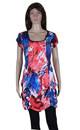 Print Bubble Hem Dress - 7