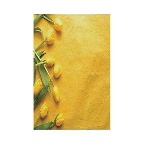Polyester Garden Flag Outdoor Flag House Flag Banner,Yellow,Danish Dutch Tulips on the Colored Wall Gardening Floral Love Lily Herbs Decor Artprint,Yellow Green,for Wedding Anniversary Home Outdoor Ga (Love Gardening Banner)
