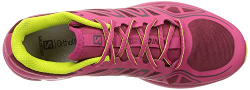 Salomon Sonic Aero W, Zapatillas de Trail Running Para Mujer Rojo (Tibetan Red/Sangria/Lime Punch)
