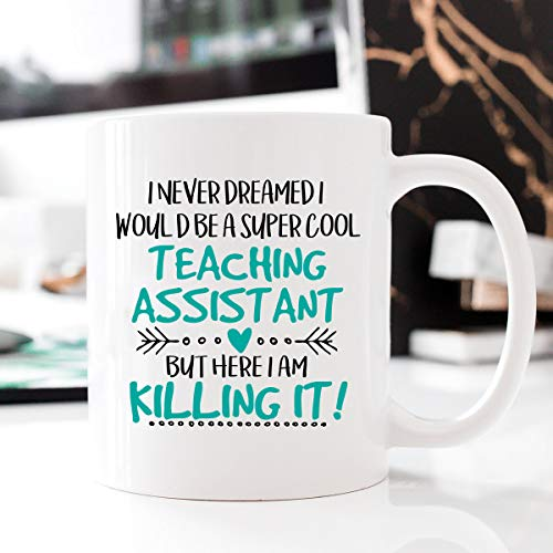 Super Cool Teaching Assistant, Occupational Mug, Killing It, Teaching Assistant Mug, Mug Teaching Assistant, Teaching Assistant, Gift - 15oz